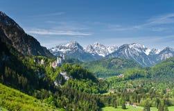 Castelli di Hohenschwangau e di Neuschwanstein Immagini Stock