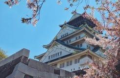 Castelli di Osaka fotografia stock libera da diritti
