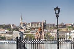 Castelli e una lampada all'aperto Fotografia Stock Libera da Diritti