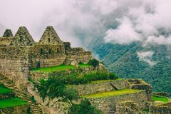 Castelli persi sopra una montagna Fotografia Stock Libera da Diritti