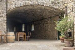 Castellina σε Chianti, μεσαιωνική πόλη της Τοσκάνης στοκ εικόνες