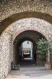 Castellina в Chianti, средневековом городке Тосканы Стоковые Изображения RF