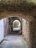 Castellina in Chianti, middeleeuwse stad van Toscanië stock afbeelding