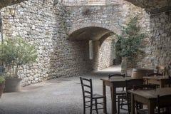 Castellina in Chianti, middeleeuwse stad van Toscanië royalty-vrije stock foto's