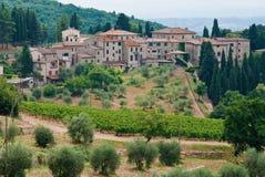 Castellina dans le chianti, Italie image stock
