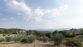 Castellina dans le chianti sur la colline, Toscane photographie stock libre de droits
