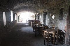 Castellina dans le chianti, ville médiévale de la Toscane images libres de droits