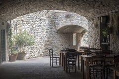 Castellina dans le chianti, ville médiévale de la Toscane photo libre de droits