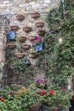 Castellina dans le chianti, ville médiévale de la Toscane photo stock