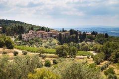 Castellina in Italië Royalty-vrije Stock Afbeelding
