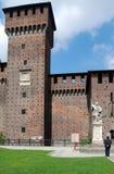 castello城堡米兰sforza sforzesco 库存照片
