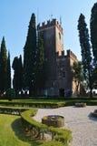 Castello塔在科内利亚诺,威尼托,意大利 免版税库存照片