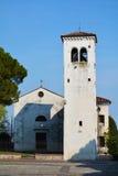 Castello广场在科内利亚诺,威尼托,意大利 库存图片