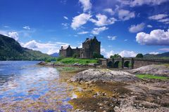 Castello 1 di Eilean Donan Fotografia Stock