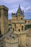 Castello 1 di Olite Fotografie Stock Libere da Diritti