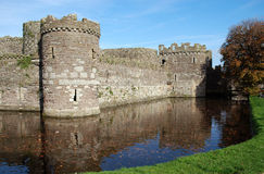 Castello 44 di Beaumaris Immagini Stock Libere da Diritti
