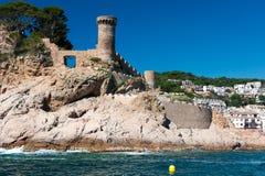 Castello al litorale spagnolo fotografie stock
