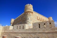 Castello Alessandria d'Egitto di Qaetbay Fotografie Stock Libere da Diritti