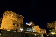 Castello alla notte Fotografie Stock