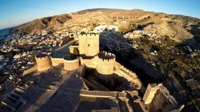 Castello a Almeria, Spagna - vista aerea Fotografie Stock Libere da Diritti