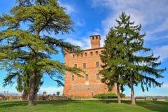 Castello antico. Grinzane Cavour, Italia. immagine stock libera da diritti