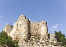 Castello antico nella città di Almansa, Albacete, Spagna Fotografia Stock Libera da Diritti