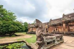 Castello antico nella storia, castello della pietra della sabbia di Phanomrung Immagine Stock Libera da Diritti