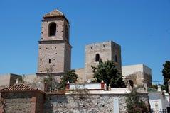 Castello arabo, Alora, Andalusia, Spagna Immagine Stock