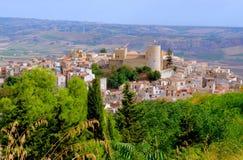 Castello Arabo-normanno in Sicilia Immagini Stock