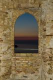 Castello Aragonese. The Aragonese Castle stands on the promontory called La Pizzuta Stock Photography