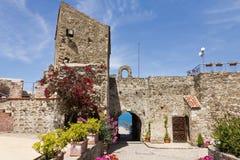 Castello aragonese di Agropoli immagini stock