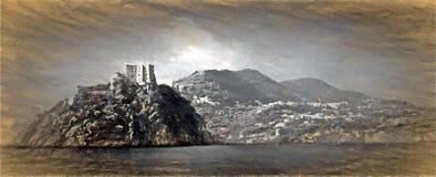 Castello aragonese, ischia, italy Stock Images