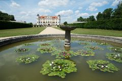 Castello barrocco Milotice, repubblica Ceca, Immagine Stock Libera da Diritti