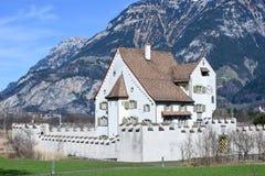 Castello barrocco un pro a Seedorf nel cantone Uri, Svizzera Fotografie Stock Libere da Diritti