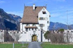 Castello barrocco un pro a Seedorf nel cantone Uri, Svizzera Fotografia Stock
