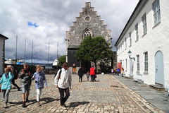 Castello Bergenhus a Bergen Fotografia Stock Libera da Diritti