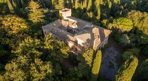 Castello Bibelli à Corfou Grèce Villa élégante du 18ème siècle qui maintenant est abandonnée Images libres de droits