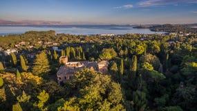 Castello Bibelli à Corfou Grèce Villa élégante du 18ème siècle qui maintenant est abandonnée Photographie stock libre de droits