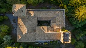 Castello Bibelli em Corfu Grécia Casa de campo elegante do século XVIII que é abandonada agora imagens de stock royalty free