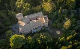 Castello Bibelli in Korfu Griekenland de 18de eeuw elegante villa die nu wordt verlaten Stock Afbeelding