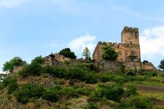 Castello a bordo del Reno fotografie stock