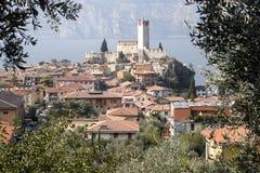Castello Callgero, Malcesine, Itália fotos de stock