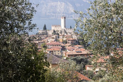 Castello Callgero, Malcesine, Italien Royaltyfri Fotografi