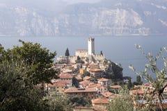 Castello Callgero, Malcesine, Italien Arkivfoto
