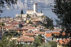 Castello Callgero, Malcesine, Italien Arkivbilder