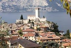 Castello Callgero, Malcesine, Italien Arkivbild