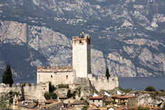 Castello Callgero, Malcesine, Italien Royaltyfri Foto