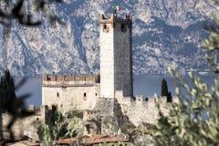 Castello Callgero, Malcesine, Italien Royaltyfri Bild