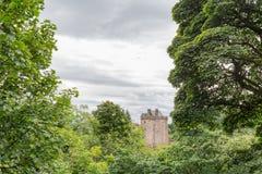 Castello Campbell ed alberi Fotografia Stock