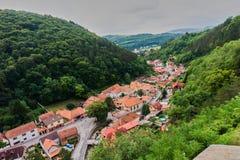 Castello ceco Karlstejn a Praga immagine stock libera da diritti